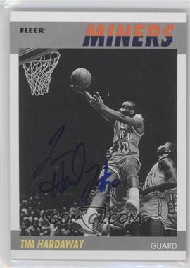 2011-12 Fleer Retro - 1987-88 Design - Autographs [Autographed] #87-TH - Tim Hardaway