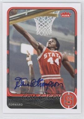 2011-12 Fleer Retro - [Base] - Autographs [Autographed] #38 - David Thompson