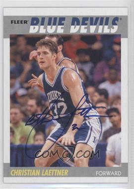2011-12 Fleer Retro 1987-88 Design Autographs [Autographed] #87-CL - Christian Laettner