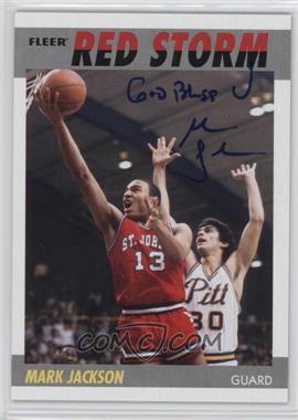 2011-12 Fleer Retro 1987-88 Design Autographs [Autographed] #87-MJ - Mark Jackson