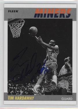 2011-12 Fleer Retro 1987-88 Design Autographs [Autographed] #87-TH - Tim Hardaway