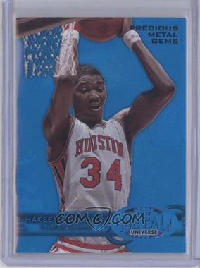 2011-12 Fleer Retro Precious Metal Gems Blue #PM-3 - Hakeem Olajuwon /50