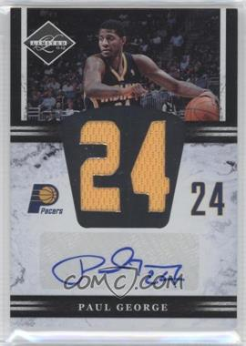 2011-12 Limited - Jumbo Materials Jersey Number Signatures - [Autographed] #13 - Paul George /99