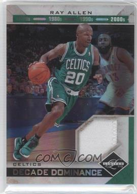 2011-12 Limited Decade Dominance Materials Prime [Memorabilia] #13 - Ray Allen /25