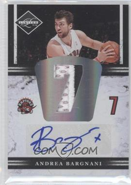 2011-12 Limited Jumbo Materials Jersey Number Signatures Prime [Autographed] #4 - Andrea Bargnani /25
