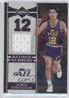 2011-12 Limited Retired Numbers Materials #7 - John Stockton /99