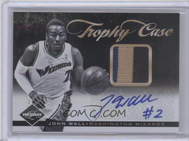2011-12 Limited Trophy Case Materials Signatures Prime [Autographed] [Memorabilia] #26 - John Wall /25