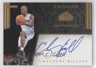 2011-12 NBA Hoops Private Signings #PS-CBL - Chauncey Billups /99