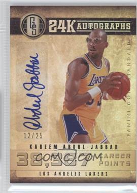 2011-12 Panini Gold Standard - 24K Autographs #1 - Kareem Abdul-Jabbar /25