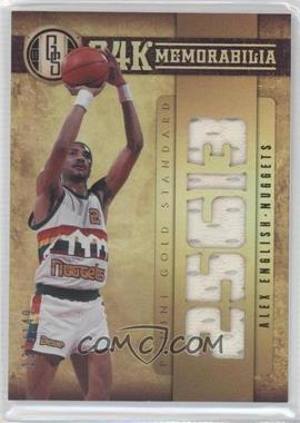2011-12 Panini Gold Standard 24K Memorabilia #12 - Alex English /149