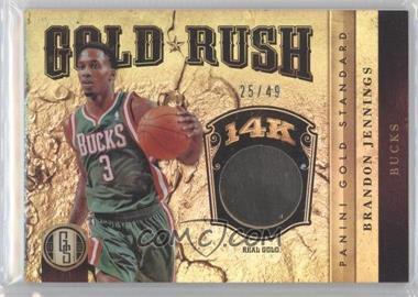 2011-12 Panini Gold Standard Gold Rush #GR-31 - Brandon Jennings /49