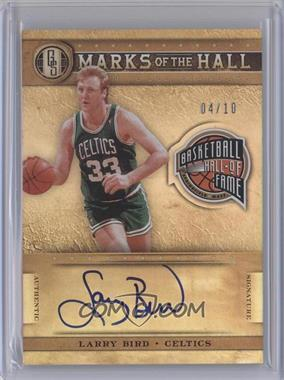 2011-12 Panini Gold Standard Marks of the Hall Autographs #22 - Larry Bird /10