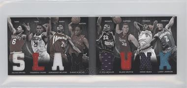 2011-12 Panini Preferred - Slam Dunk Material Booklet #8 - Blake Griffin, Clyde Drexler, Dominique Wilkins, Serge Ibaka, DeMar DeRozan, Julius Erving, Larry Johnson, Thaddeus Young /99