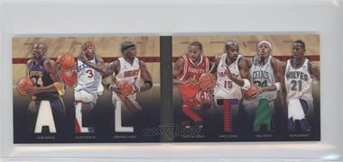 2011-12 Panini Preferred All-Star Material Booklet Prime #9 - Allen Iverson, Jermaine O'Neal, Kevin Garnett, Kobe Bryant, Vince Carter, Paul Pierce, Tracy McGrady /25