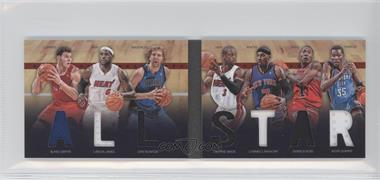 2011-12 Panini Preferred All-Star Material Booklet #2 - Carmelo Anthony, Kevin Durant, LeBron James, Blake Griffin, Derrick Rose, Dirk Nowitzki, Dwyane Wade /199