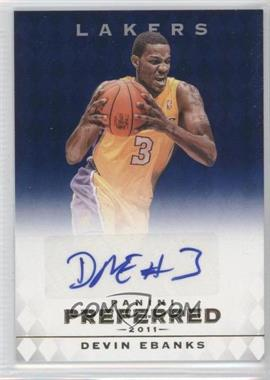 2011-12 Panini Preferred Blue [Autographed] #315 - Devin Ebanks /49
