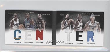 2011-12 Panini Preferred Center Material Booklet #3 - Chris Andersen, Emeka Okafor, Greg Oden, Dwight Howard, Marcus Camby, Tyson Chandler /199