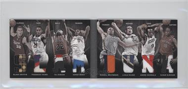 2011-12 Panini Preferred Slam Dunk Material Booklet Prime #4 - Blake Griffin, DeMar DeRozan, JaVale McGee, Russell Westbrook, Taj Gibson, Thaddeus Young, Andre Iguodala, Serge Ibaka /25