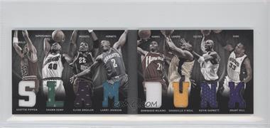 2011-12 Panini Preferred Slam Dunk Material Booklet #2 - Larry Johnson, Shaquille O'Neal, Clyde Drexler, Dominique Wilkins, Grant Hill, Kevin Garnett, Scottie Pippen, Shawn Kemp /125