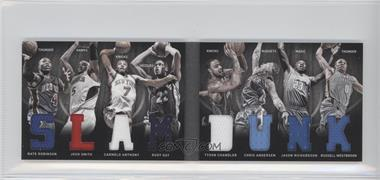 2011-12 Panini Preferred Slam Dunk Material Booklet #7 - Carmelo Anthony, Jason Richardson, Nate Robinson, Rudy Gay, Tyson Chandler, Chris Andersen, Josh Smith, Russell Westbrook /199