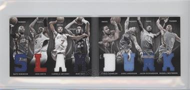 2011-12 Panini Preferred Slam Dunk Material Booklet #7 - Carmelo Anthony, Jason Richardson, Nate Robinson, Rudy Gay, Tyson Chandler, Chris Andersen, Josh Smith, Russell Westbrook /199