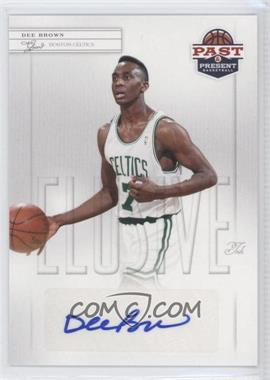 2011-12 Past & Present Elusive Ink #DB - Dee Brown