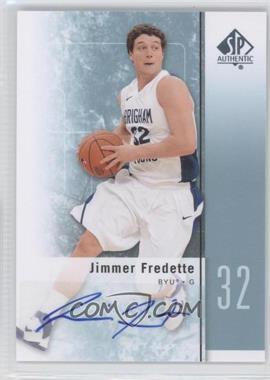 2011-12 SP Authentic Autograph [Autographed] #17 - Jimmer Fredette
