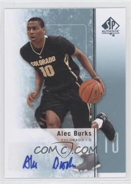 2011-12 SP Authentic Autograph [Autographed] #18 - Alec Burks