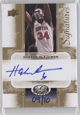 2011 Upper Deck All-Time Greats Signatures [Autographed] #AGS-HO2 - Hakeem Olajuwon