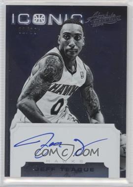 2012-13 Absolute - Iconic Autographs #28 - Jeff Teague /99