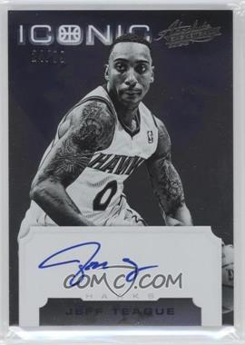 2012-13 Absolute Iconic Autographs #28 - Jeff Teague /99