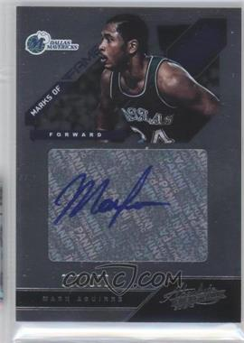 2012-13 Absolute Marks of Fame Autographs #30 - Mark Aguirre /100