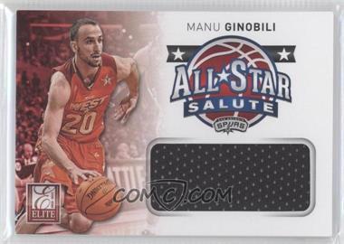 2012-13 Elite - All-Star Salute Materials #15 - Manu Ginobili
