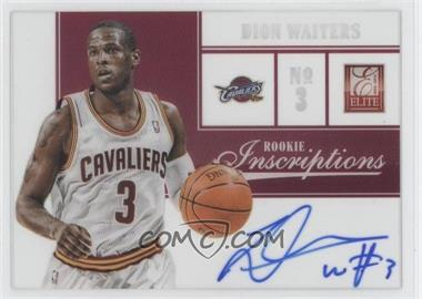 2012-13 Elite Rookie Inscriptions [Autographed] #31 - Dion Waiters