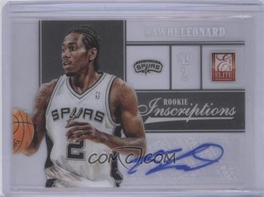 2012-13 Elite Rookie Inscriptions [Autographed] #43 - Kawhi Leonard