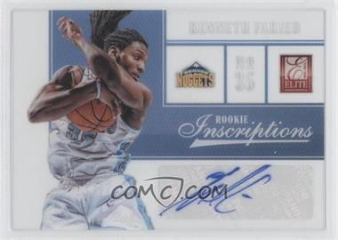 2012-13 Elite Rookie Inscriptions [Autographed] #53 - Kenneth Faried
