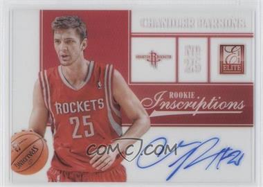 2012-13 Elite Rookie Inscriptions [Autographed] #7 - Chandler Parsons