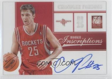 2012-13 Elite Rookie Inscriptions [Autographed] #7 - Chandler Parsons