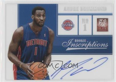2012-13 Elite Rookie Inscriptions [Autographed] #75 - Andre Drummond