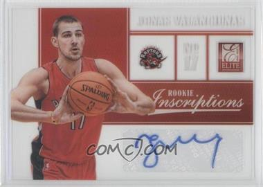 2012-13 Elite Rookie Inscriptions [Autographed] #81 - Jonas Valanciunas