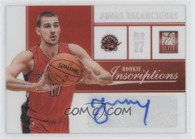 2012-13 Elite Rookie Inscriptions [Autographed] #81 - Jonas Valanciunas
