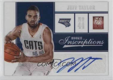 2012-13 Elite Rookie Inscriptions #65 - Jeff Taylor
