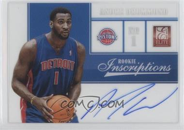 2012-13 Elite Rookie Inscriptions #75 - Andre Drummond