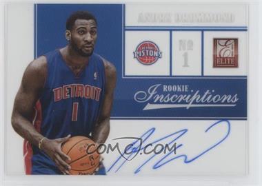 2012-13 Elite Rookie Inscriptions #75 - Andre Drummond