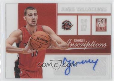 2012-13 Elite Rookie Inscriptions #81 - Jonas Valanciunas