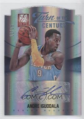 2012-13 Elite Turn of the Century Die-Cut Autographs [Autographed] #23 - Andre Iguodala /25