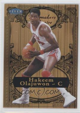 2012-13 Fleer Retro 1998-99 Fleer Tradition Playmakers Theater #21 PT - Hakeem Olajuwon /100