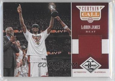 2012-13 Limited - Curtain Call Materials #26 - Lebron James /99