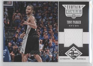 2012-13 Limited Curtain Call Materials #19 - Tony Parker /199