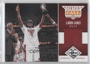 2012-13 Limited Curtain Call Materials #26 - Lebron James /99